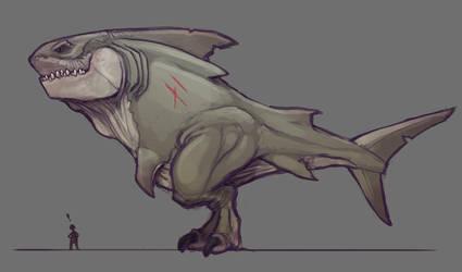 Megolodon Rex Side View by DevindraLeonis