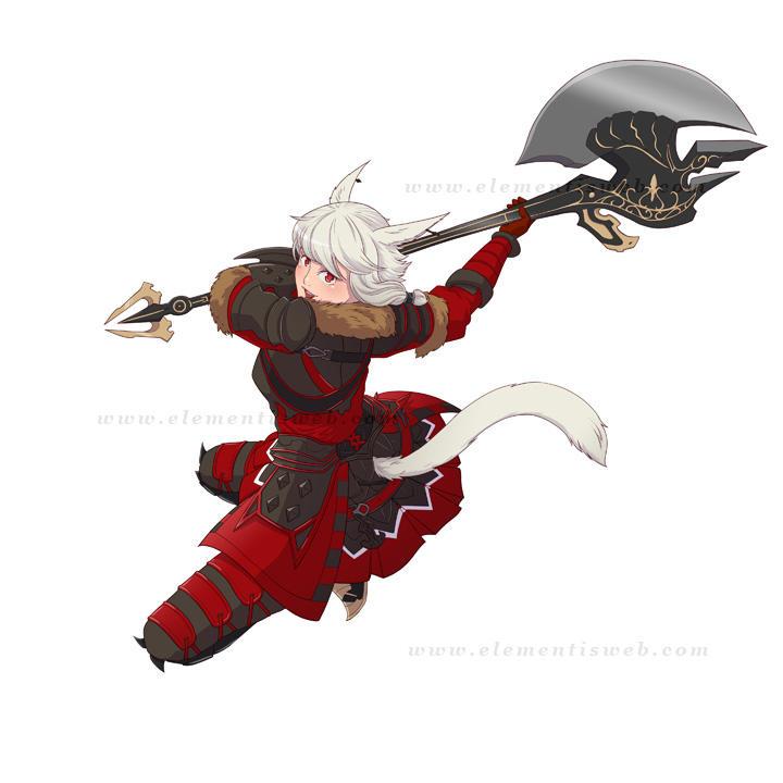 FFXIV Warrior by Elementis