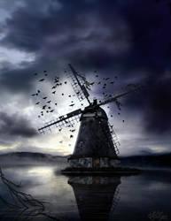Scary windmill by azielonko