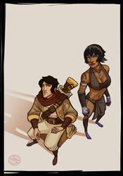 Dimitri and Marine by zazB