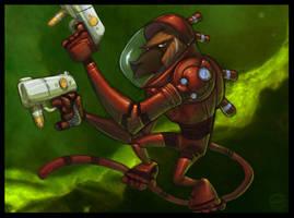 Space Monkey by zazB