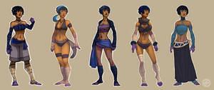 Costume Lineup by zazB