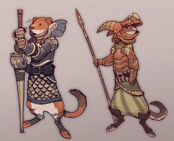 Weasels and Armors by zazB