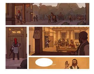 Comic page test by zazB