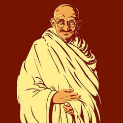 Gandhi by Renaenae