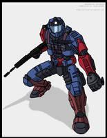 Halo Spartan Persona by Niban-Destikim