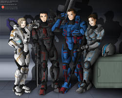 Commission: The Spartan Friends by Niban-Destikim