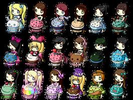 Cupcake Chibis by LVStarlitSky