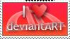 I Heart deviantART Stamp by spud100