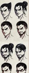 Kazuya's Hair by bryzunovrokks
