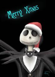 Merry X-MAS Jack Skellington by Akira1412
