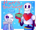 Gift: Sans and Papyrus by Winterter
