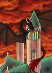 Roof Climbing Dragon by Gwennafran