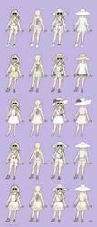 Stella Round 4 Concept art - Summer Outfits by Gwennafran