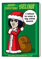 Professor Snape Christmas Card by Gwennafran