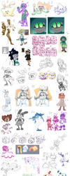 Doodle Dump 62 by Camichuriin