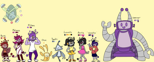Planet Techchia Characters by Camichuriin