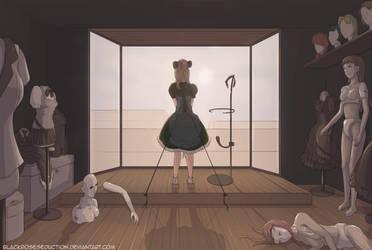 Elegant Touch: Dress Storage (AKA Mannequin room) by Rosie-BRS