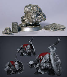 dwarf printed and cast by polyphobia3d