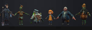 Haunted Island Characters by polyphobia3d