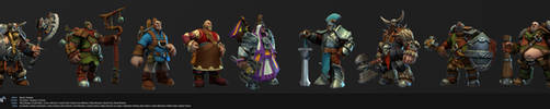 Settlers Characters by polyphobia3d