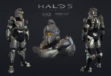 Halo 5 Multiplayer Armor Achilles by polyphobia3d
