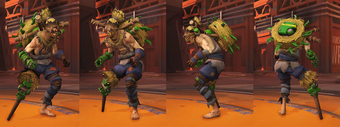 Overwatch Scarecrow Junkrat by polyphobia3d