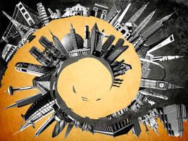 Orange Skyline by DESIGNOOB