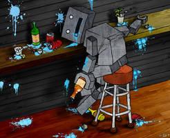 Drunk Robo by DESIGNOOB