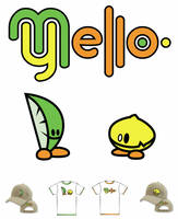 Mello Yellow Character and Logo Design by DESIGNOOB