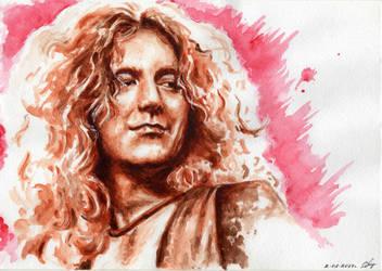 Robert Plant Portrait by OlyaGvozdeva