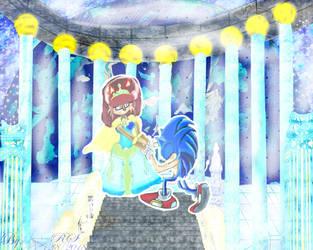 Blue Sapphireshipping Sonic and Sally Acorn My Leg by Darkramiess
