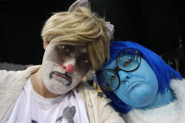 Grumpy Cat and Sadness Cosplay by DragonRichard
