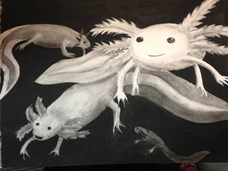 Once I was an Axolotl by Crazy-Book-Worm