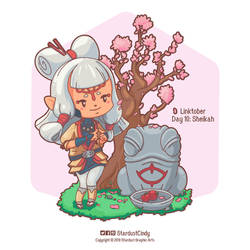 Paya under the cherry blossom tree by CynthiaSotoArt