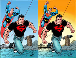 Superboy and Superman_Colors by Troianocomics