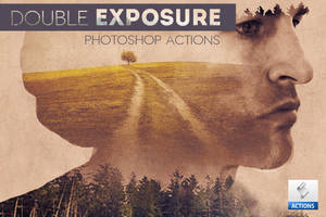 Advanced Double Exposure Photoshop Actions by PsdDude