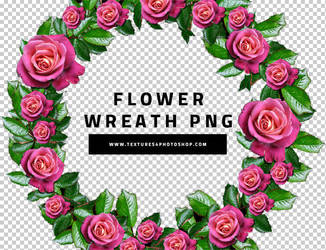 Flower Wreath PNG by PsdDude