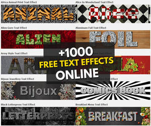 Over 1000 Online Text Effects for Free by PsdDude