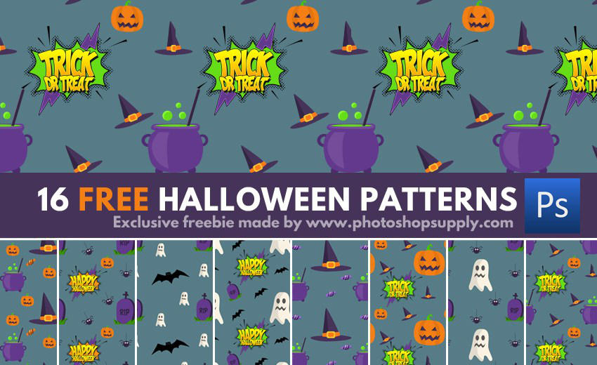 Free HALLOWEEN Patterns (300 dpi) by PsdDude