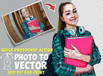 Turn PHOTO to VECTOR Photoshop Action by PsdDude