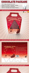 Chocolate Box Packaging Template by idesignstudio
