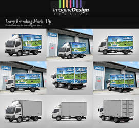 Lorry Branding Mock-Up by idesignstudio