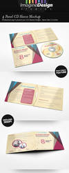 4 Panel CD Sleeve Mockup by idesignstudio