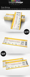 Ticket Mockup by idesignstudio