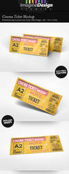 Cinema Ticket Mockup by idesignstudio
