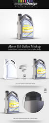 Motor Oil Gallon Mockup by idesignstudio