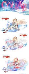 [Collab] Letra A: Angel by SritaBlue
