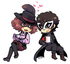 Commission for aokihime - P5 by piyostoria