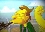 Golpe en la nuca a Lenny by ODH77